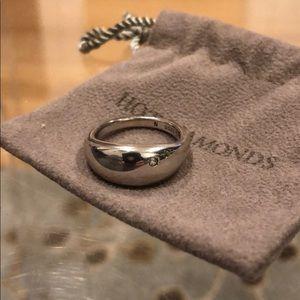 💍💥 HOT DIAMONDS STERLING SILVER RING W/DIAMOND